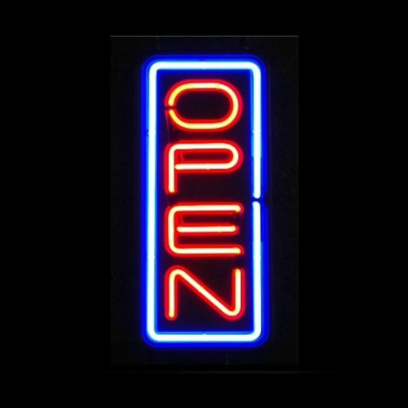 Vertical Neon Open Signs