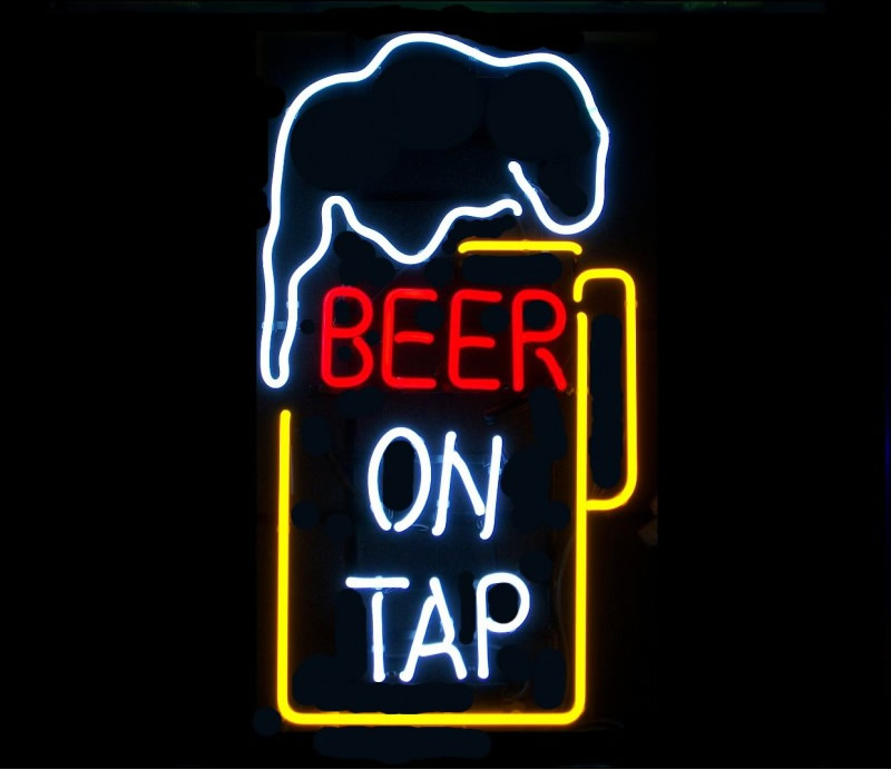 Buy Beer On Tap Neon Sign