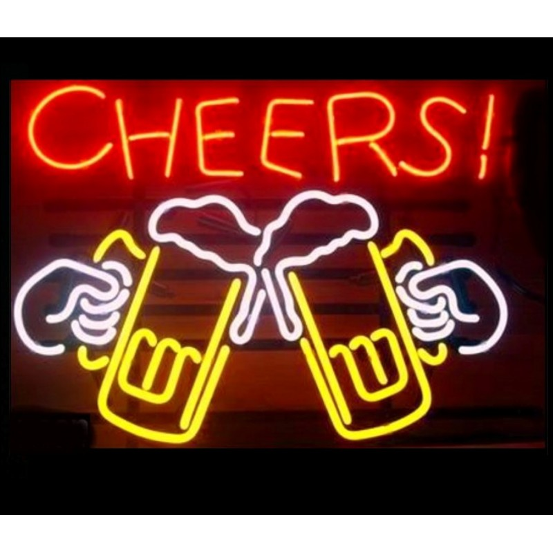 Cheers Draft Beer Neon Bar Sign - Neon Signs Depot