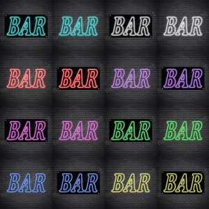 Bar Sign Multi Color