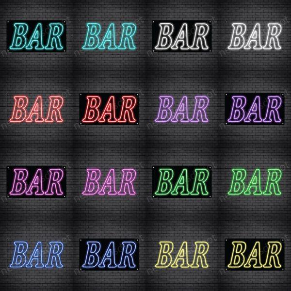 Bar Sign Multi Color
