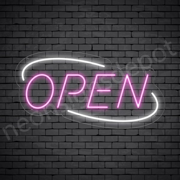 Deco Open Neon Pink White