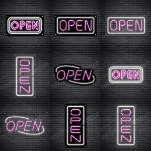 Pink Open Sign