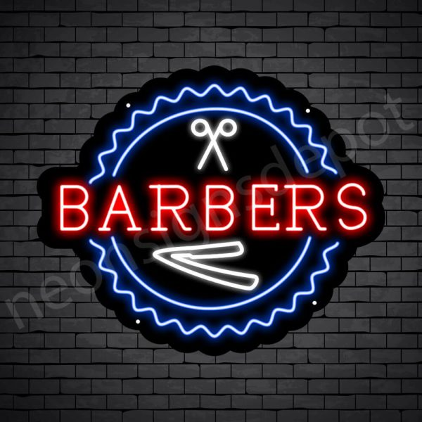 Barber Neon Sign Open Barber Black - 24x20