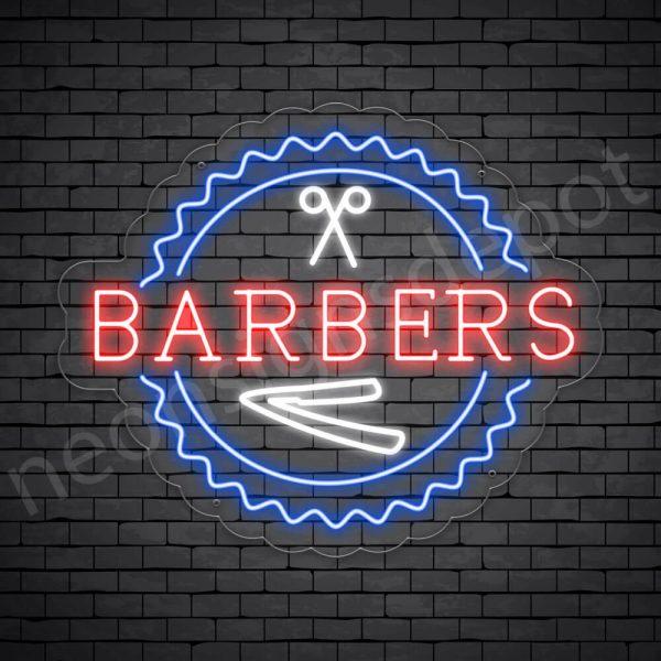 Barber Neon Sign Open Barber Transparent- 24x20