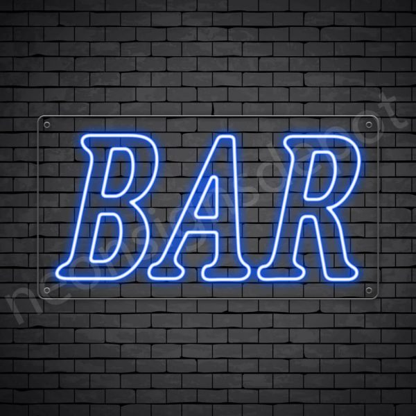 Bar sign Blue - Transparent