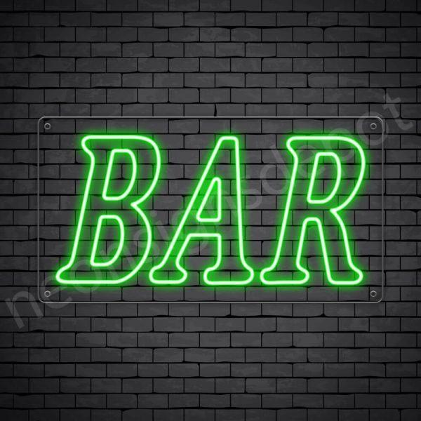 Bar sign Green - Transparent