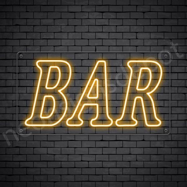 Bar sign Orange - Transparent
