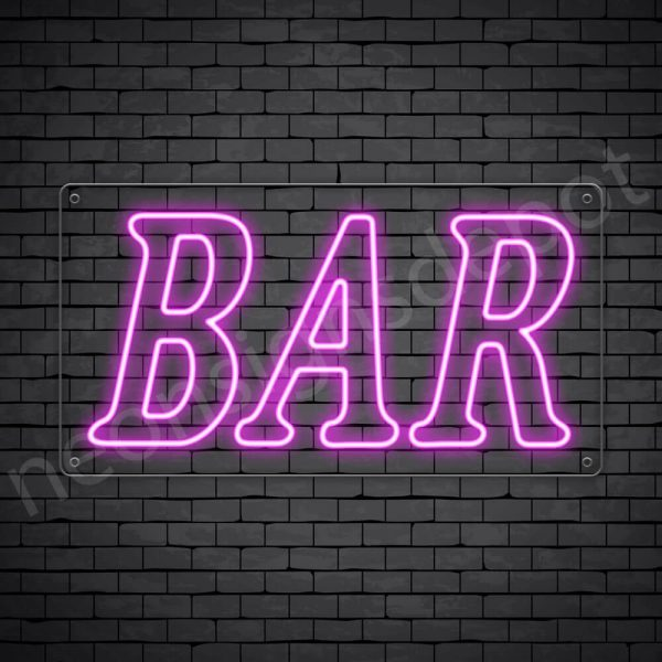 Bar sign Pink - Transparent