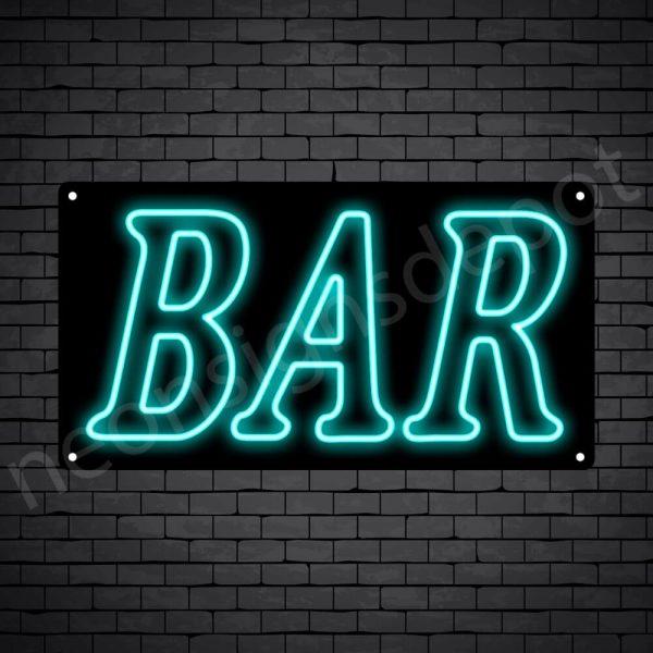 Bar sign Light Blue - Black