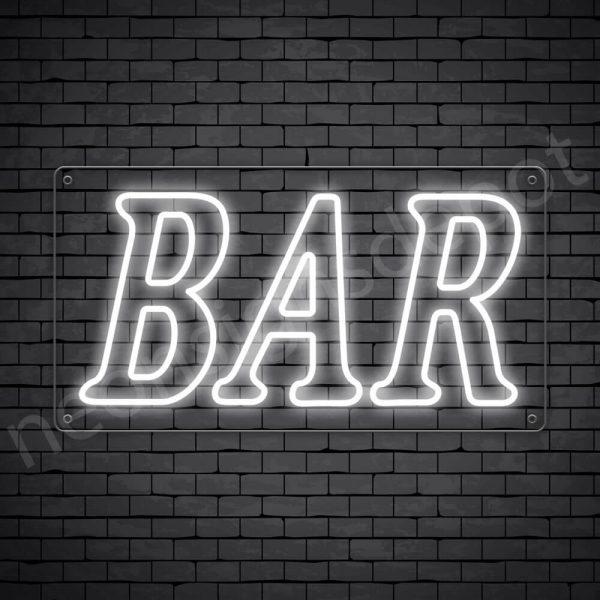 Bar sign White - Transparent