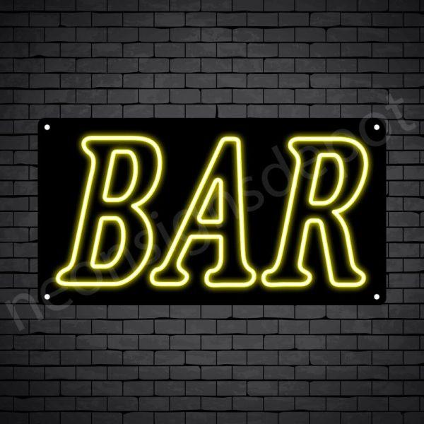 Bar sign Yellow - Black