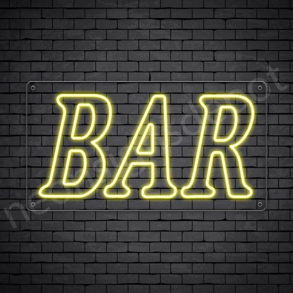 Bar sign Yellow - Transparent