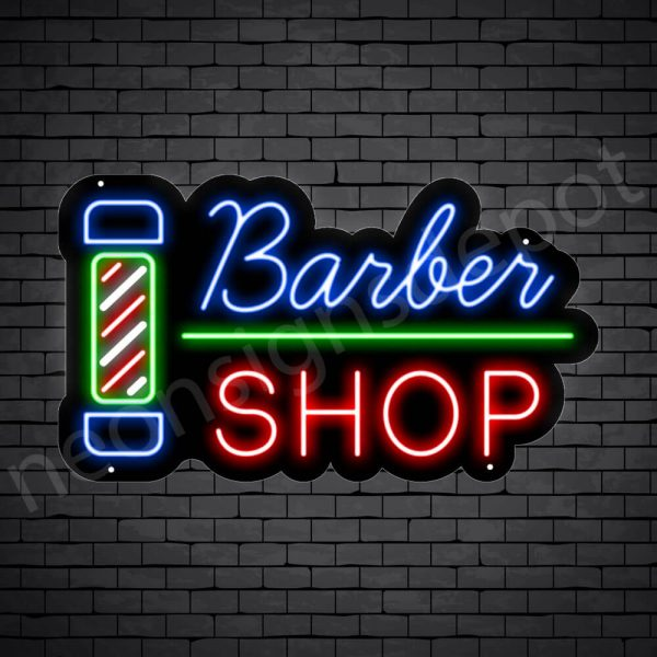 Barber Neon Sign Barber Shop Black - 24x14