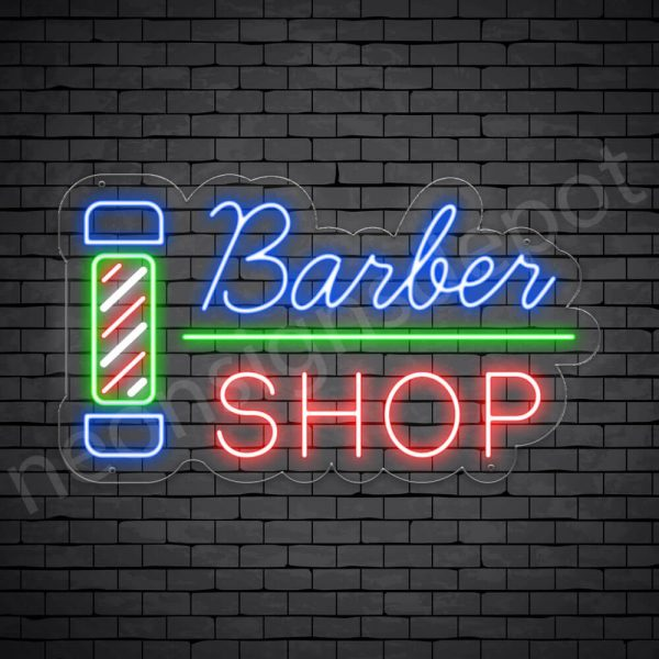 Barber Neon Sign Barber Shop Transparent - 24x14