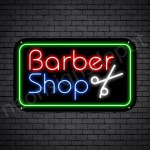Barber Neon Sign Barber Shop Cut Black - 24x14