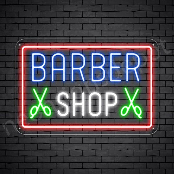 Barber Neon Sign Barbers Cut - Transparent