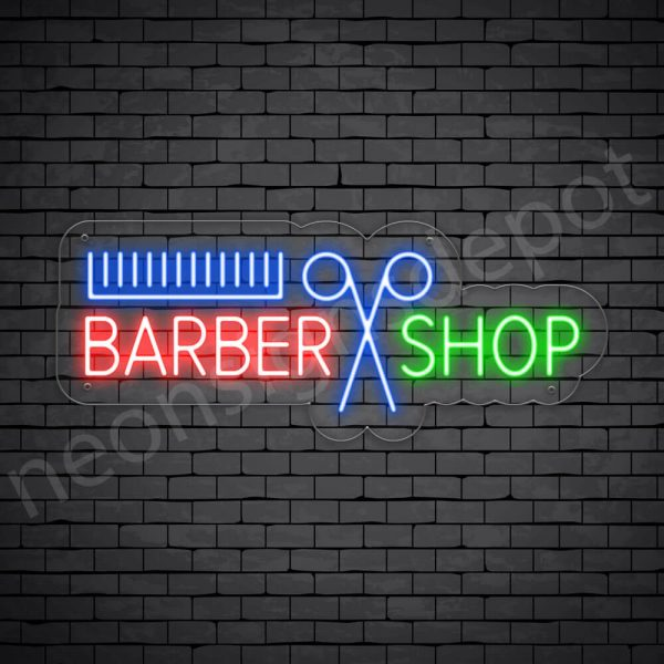 Barber Neon Sign Barbers Open Transparent 24x9