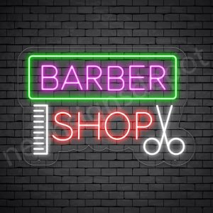 Neon Barber Sign