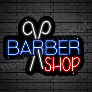 Barber Neon Sign Barbershop - black