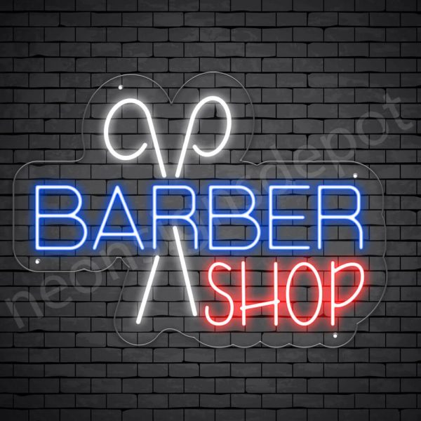 Barber Neon Sign Cut Barber Shop - Transparent