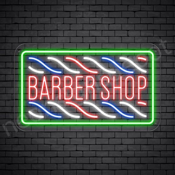 Barber Neon Sign Haircut Shop Transparent - 24x14