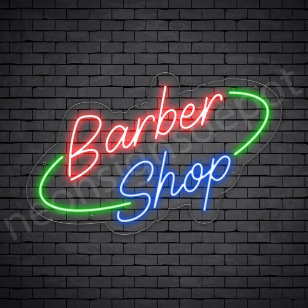 Barber Neon Sign King Barber Shop Transparent - 24x15