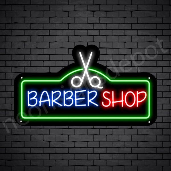 Barber Neon Sign Barbershop Cuts - Black