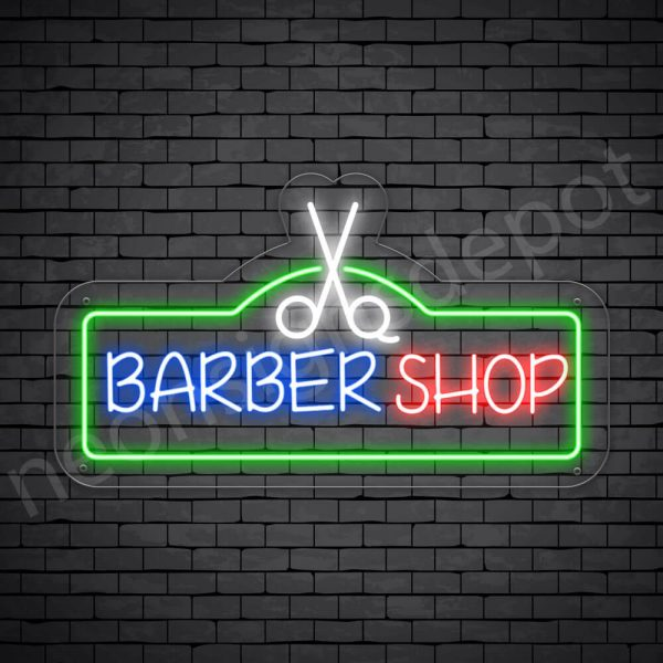 Barber Neon Sign King Barbers - Transparent