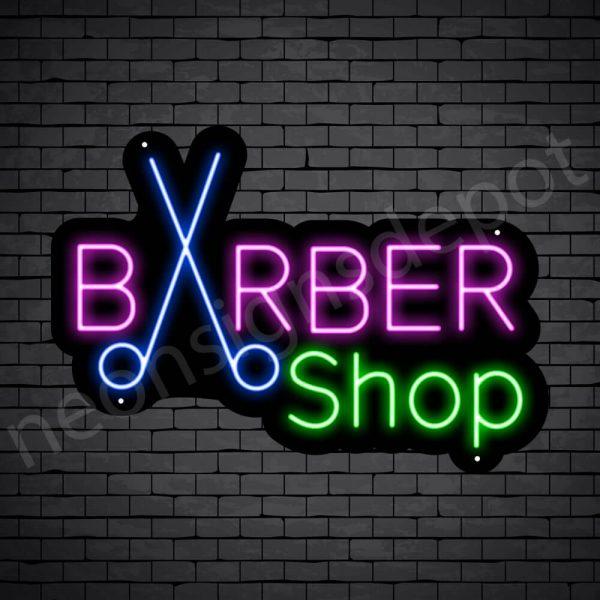 Barber Neon Sign Barbershop Cutter Black - 24x17