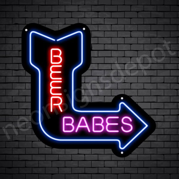 Beer Babes Neon Bar Sign - Black