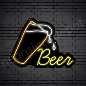 Beer-Neon-Sign-Beer-drop - 24x18
