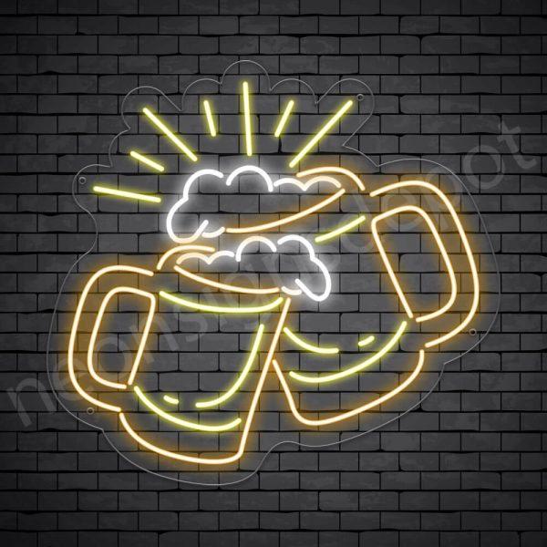 Beer Neon Sign Cheers Beers Transparent - 28x30