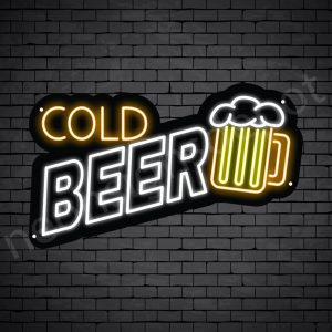 "Beer-Neon-Sign-Cold Beer 24"" x 14"""