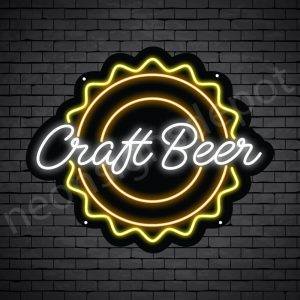 Beer Neon Sign Craft Beer - Black