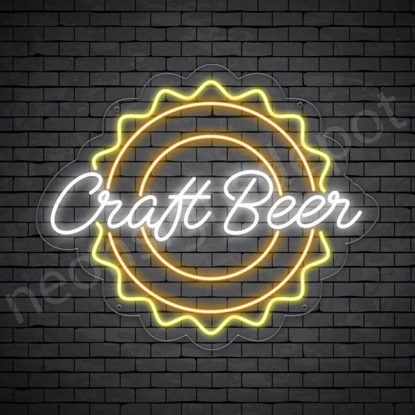 Beer Neon Sign Craft Beer - Transparent