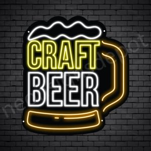 Beer Neon Sign Craft Beer Mug - Black