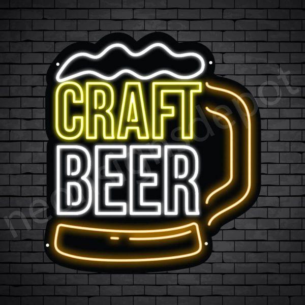 Beer Neon Sign Craft Beer Mug - Black