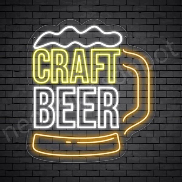 Beer Neon Sign Craft Beer Mug - Transparent
