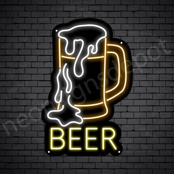 Beer Neon Sign Full Beer Black - 16x24