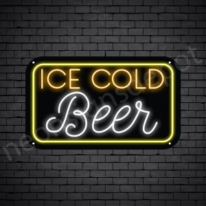 "Beer Neon Sign Ice Cold Beer- 24"" x 14"""