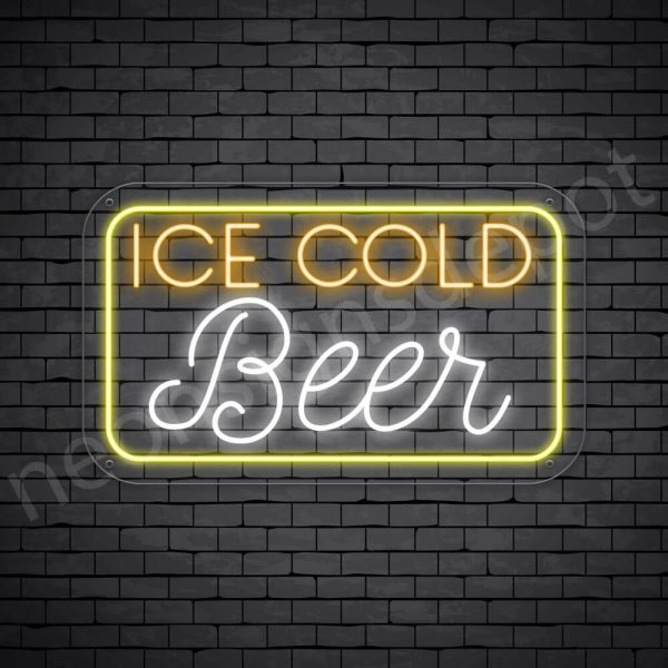 "Beer Neon Sign Ice Cold Beer- 30"" x 18"""