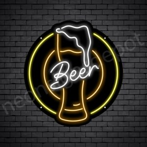 Beer Neon Sign Retro Beer Black - 22x24