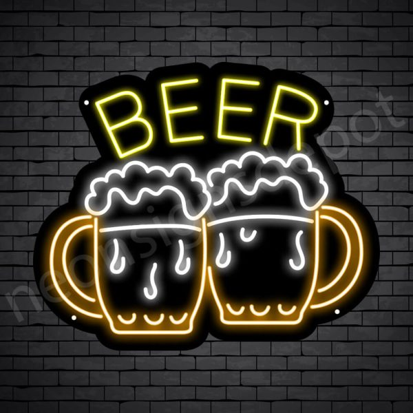 Beer Neon Sign Two Beers 24x20