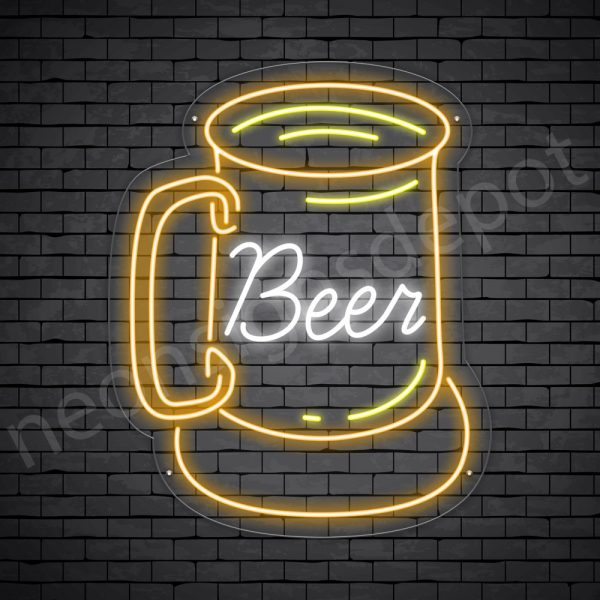 Beer Neon Sign Vintage Beer Transparent - 19x24