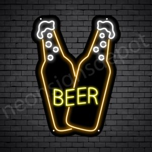 Beer Neon Sign Double Beer 18x24