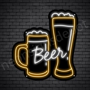 Beer Neon Sign Mug Glass Beer 22x24