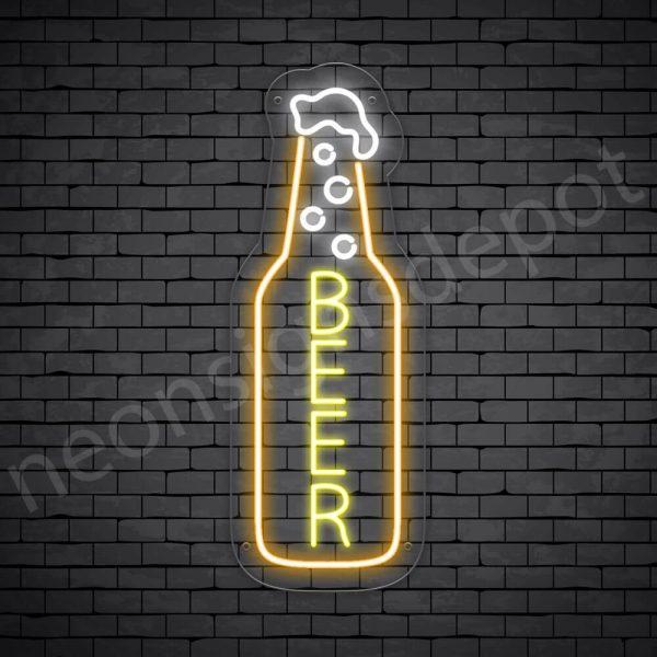 Beer Neon Sign single beer - 24x9