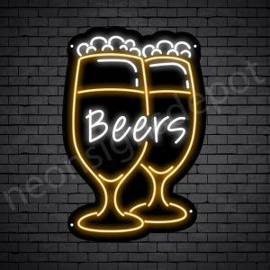 Beer Neon Sign Wine Glass Beer 16x24