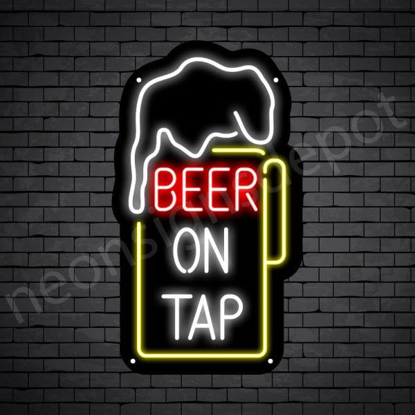 Beer On Tap Neon Sign - Black